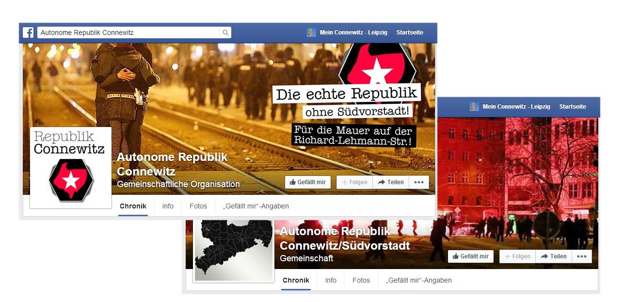 Die Autonome Republik Connewitz auf Facebook